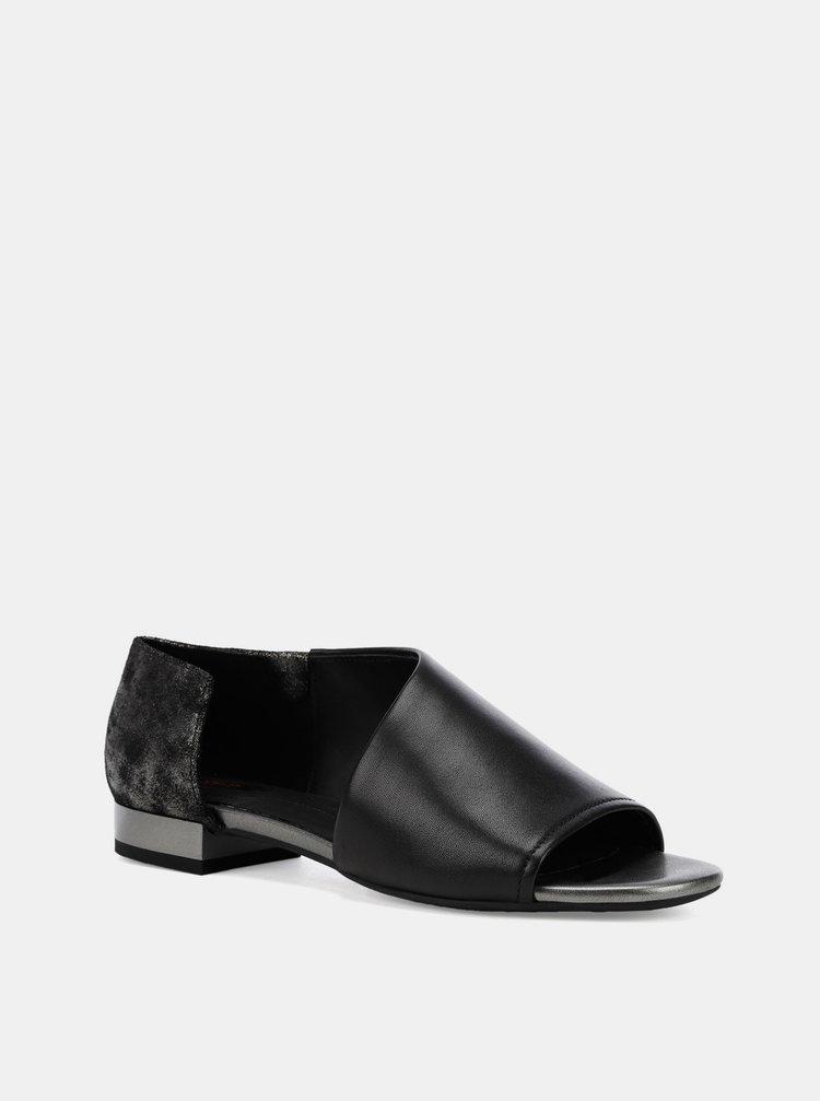 Černé dámské kožené sandály Geox