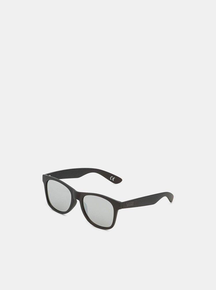 Vans SPICOLI FLAT SHADES BLACK/SILVER MIRROR sluneční brýle pilotky - černá