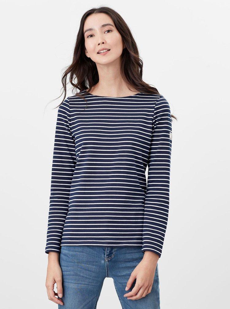 Tmavomodré dámske pruhované tričko Tom Joule