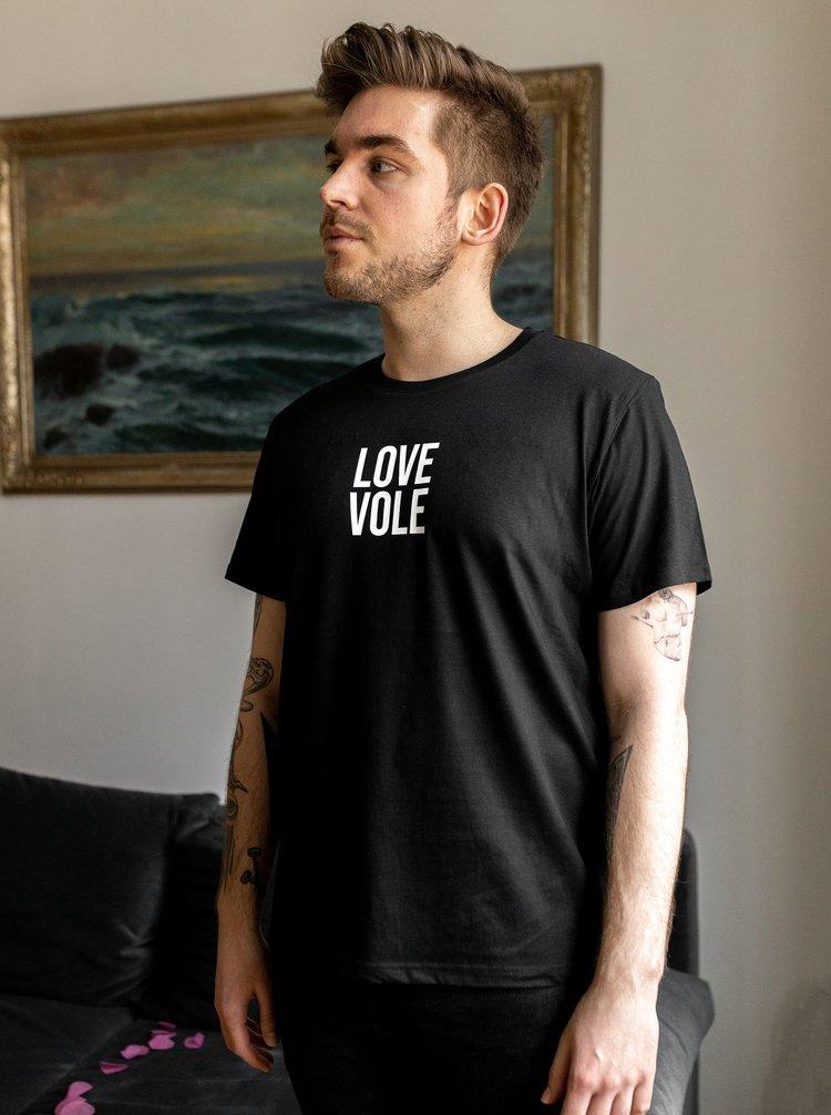 Čierne pánske tričko ZOOT Original Love Vole