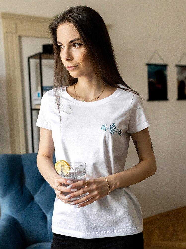 Bílé dámské tričko ZOOT Original Gin a Tonic