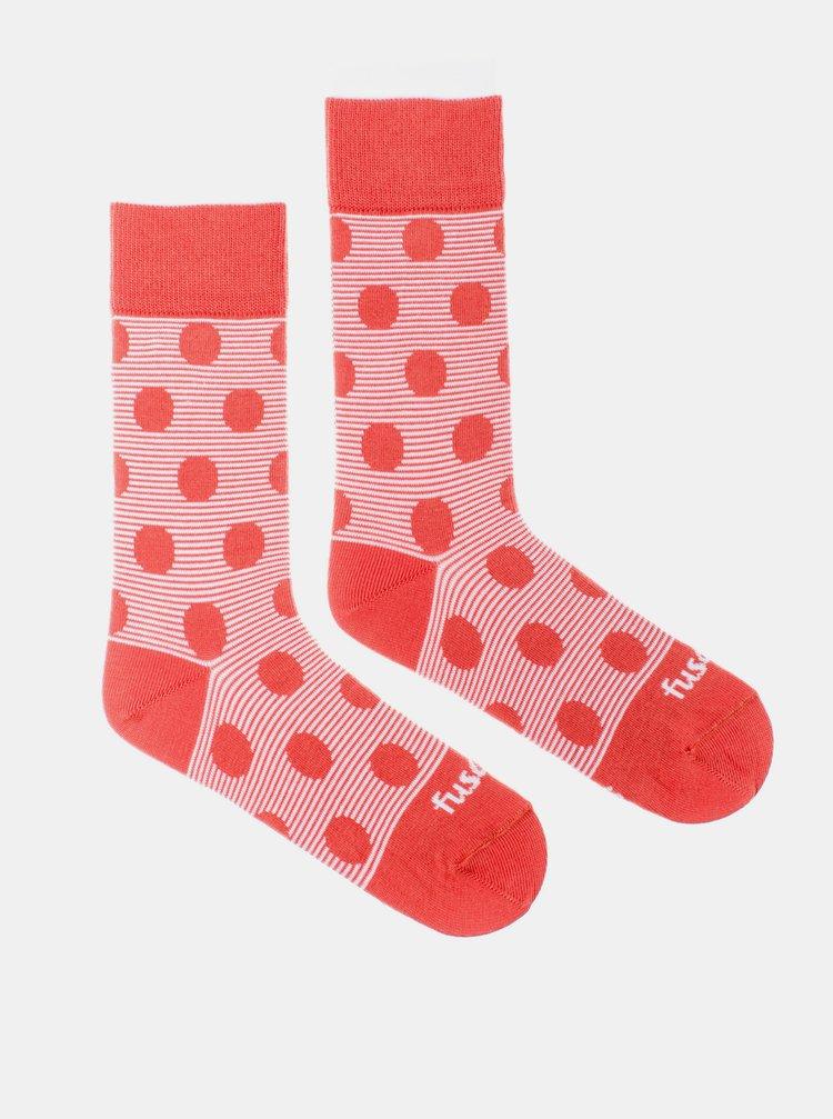 Růžové puntíkované ponožky Fusakle Chamaleon