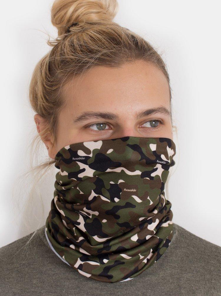 Khaki maskáčový šátek 3v1 Fusakle