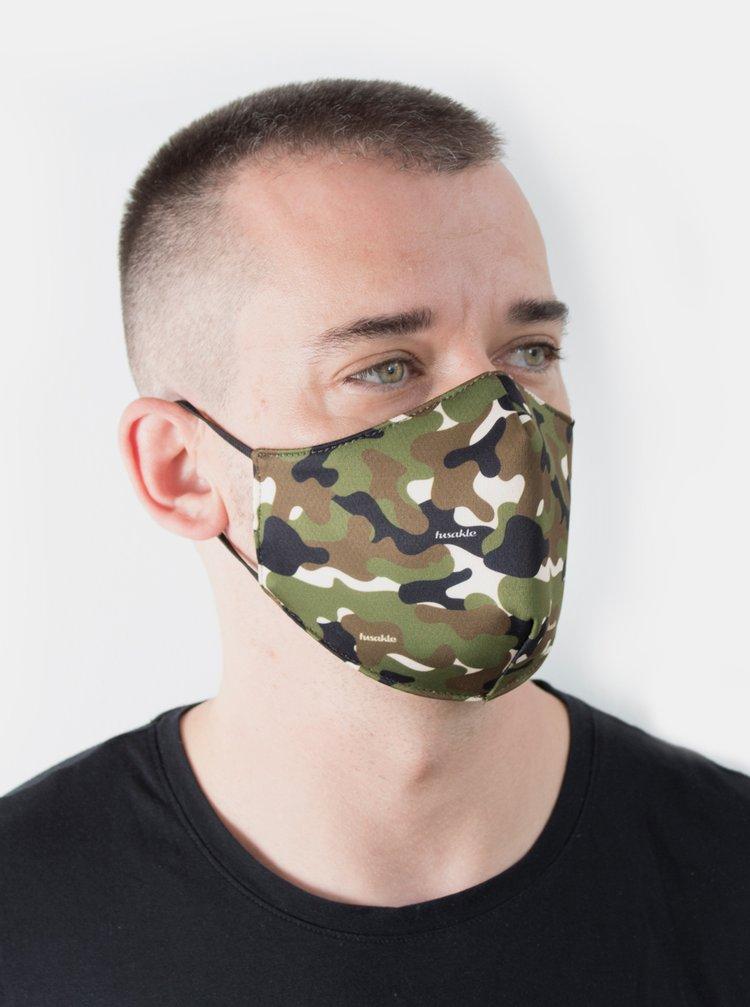 Kaki maskáčové rúško Fusakle