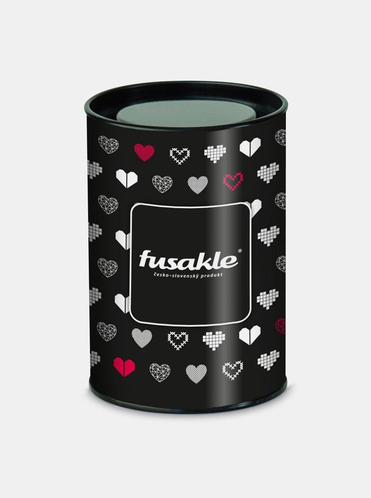 Černé pouzdro na ponožky Fusakle Valentýn