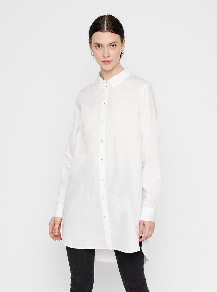 Biela dlhá košeľa Pieces Noma