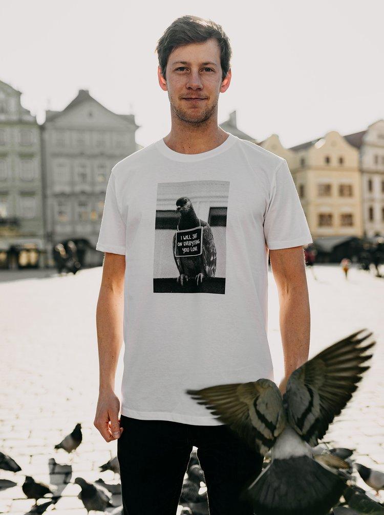 Bílé pánské tričko ZOOT Original Holub