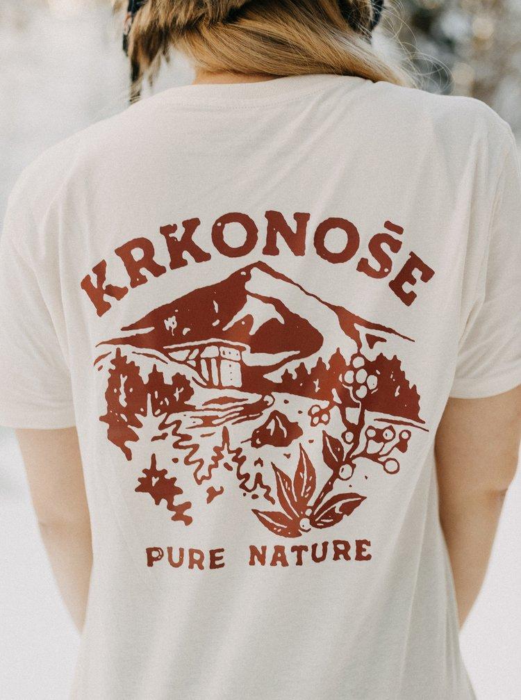 Krémové dámske tričko ZOOT Original Krkonoše