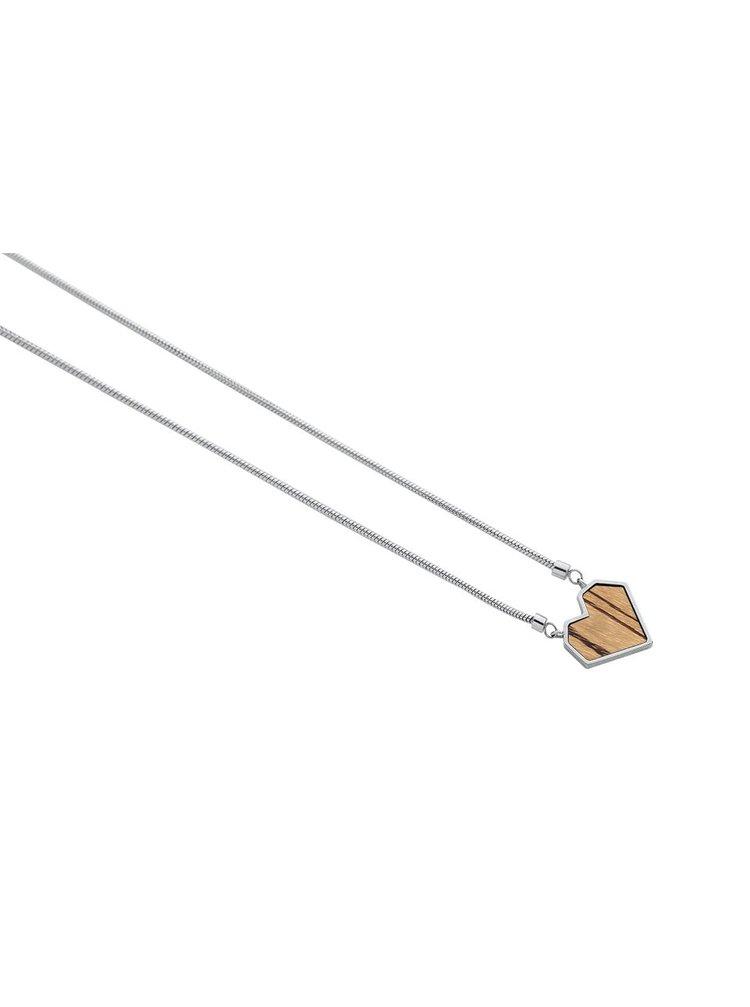 Náhrdelník s dřevěným detailem Lini Necklace Heart