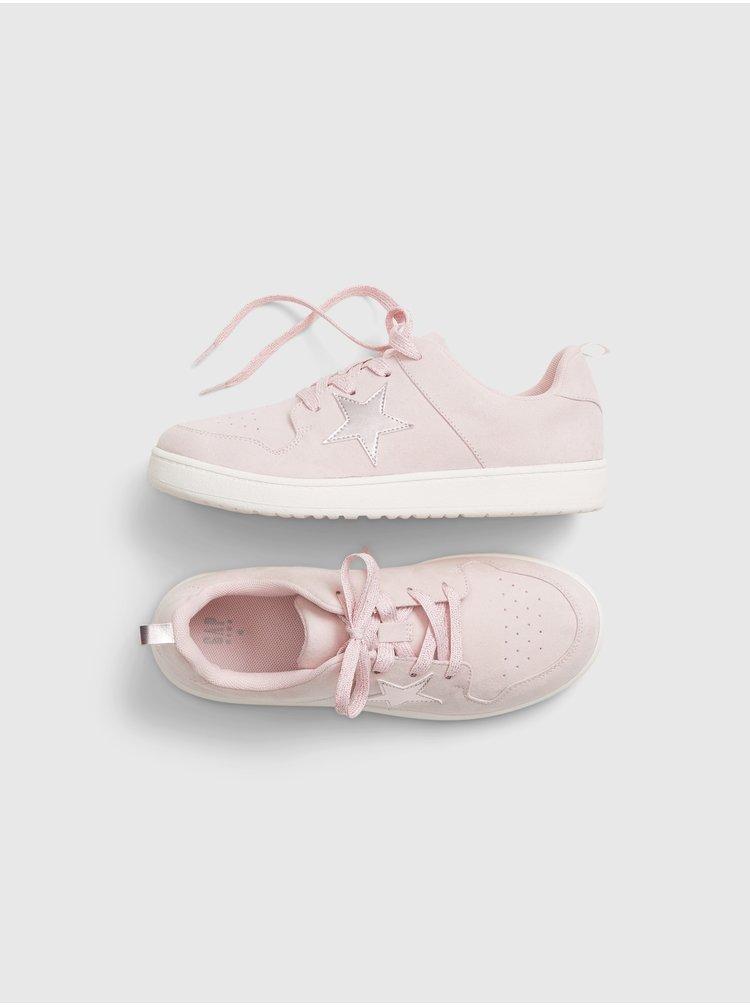 Růžové holčičí boty GAP