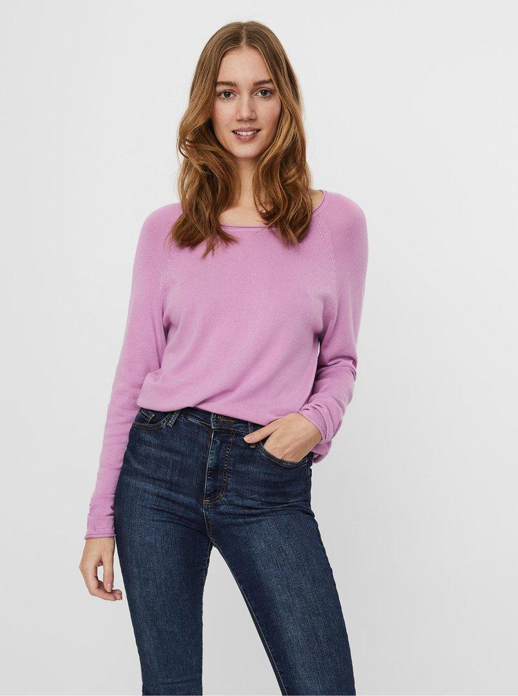 Ružový sveter VERO MODA Glory