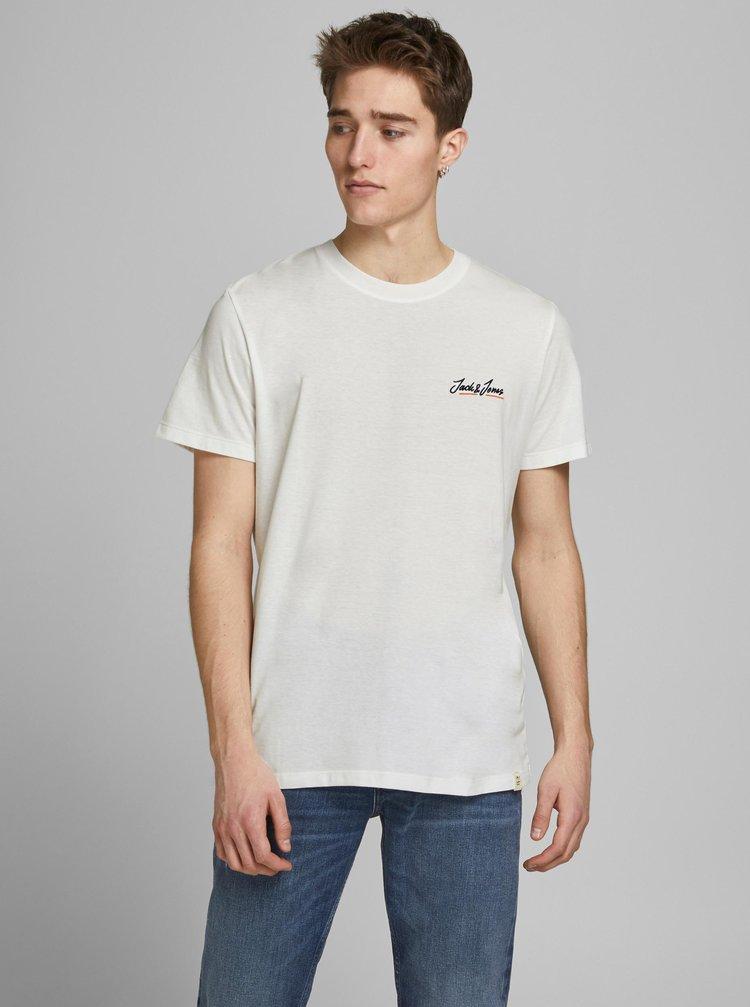 Bílé tričko Jack & Jones Tons