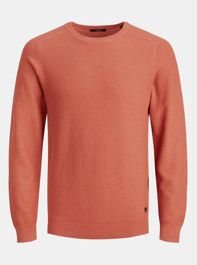 Oranžový sveter Jack & Jones