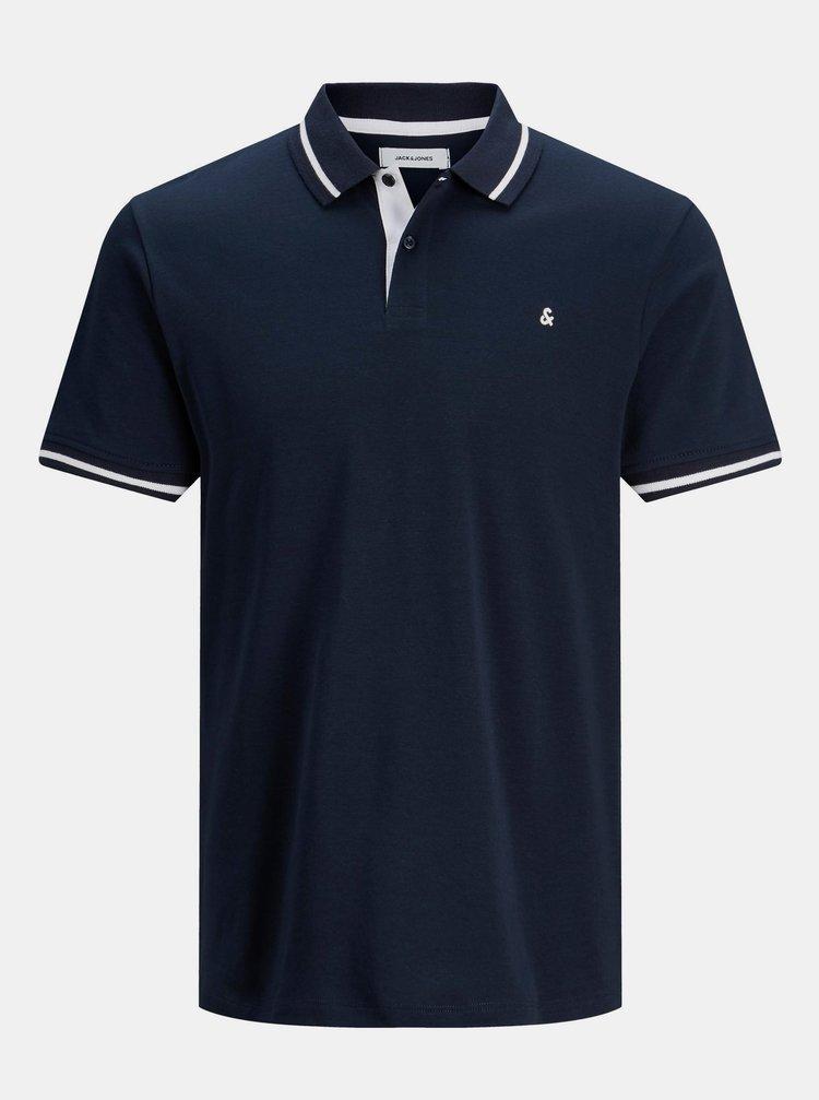Tmavě modré polo tričko Jack & Jones Jersey