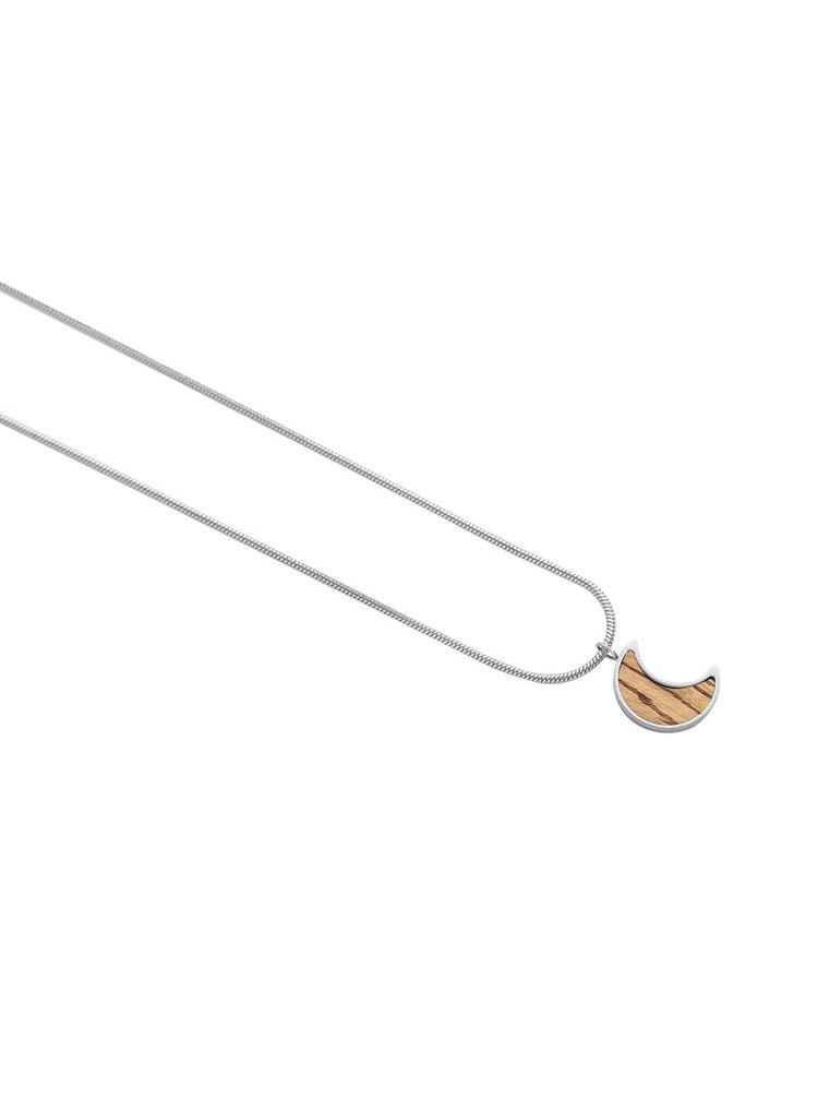 Náhrdelník s dřevěným detailem Lini Necklace Halfmoon