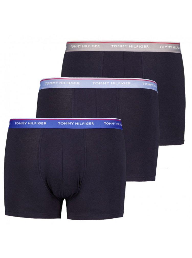 3PACK pánské boxerky Tommy Hilfiger tmavě modré nadrozměr