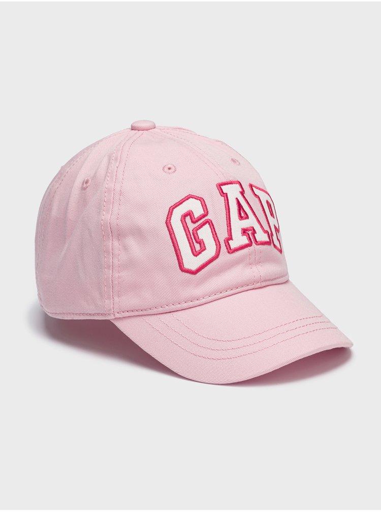 Růžová holčičí kšiltovka GAP Logo