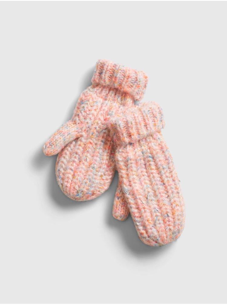 Růžové holčičí rukavice GAP