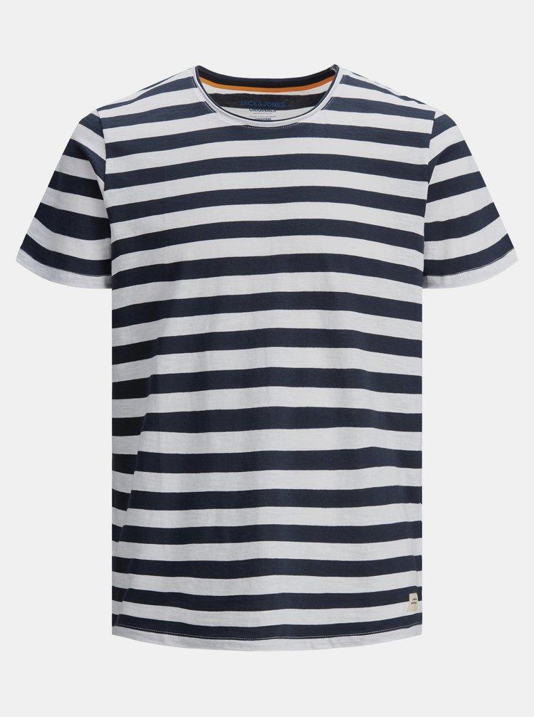 Tmavomodré pruhované tričko Jack & Jones Tons