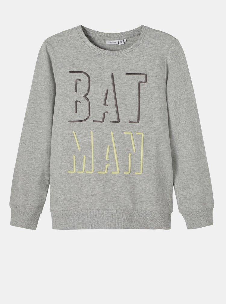 Šedá chlapčenská mikina name it Batman