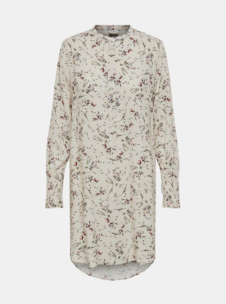 Krémová květovaná dlouhá košile Jacqueline de Yong Peak