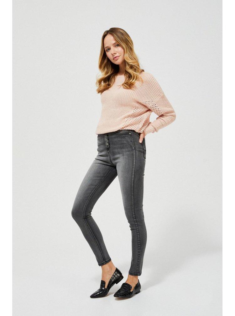 Moodo sivé džínsy