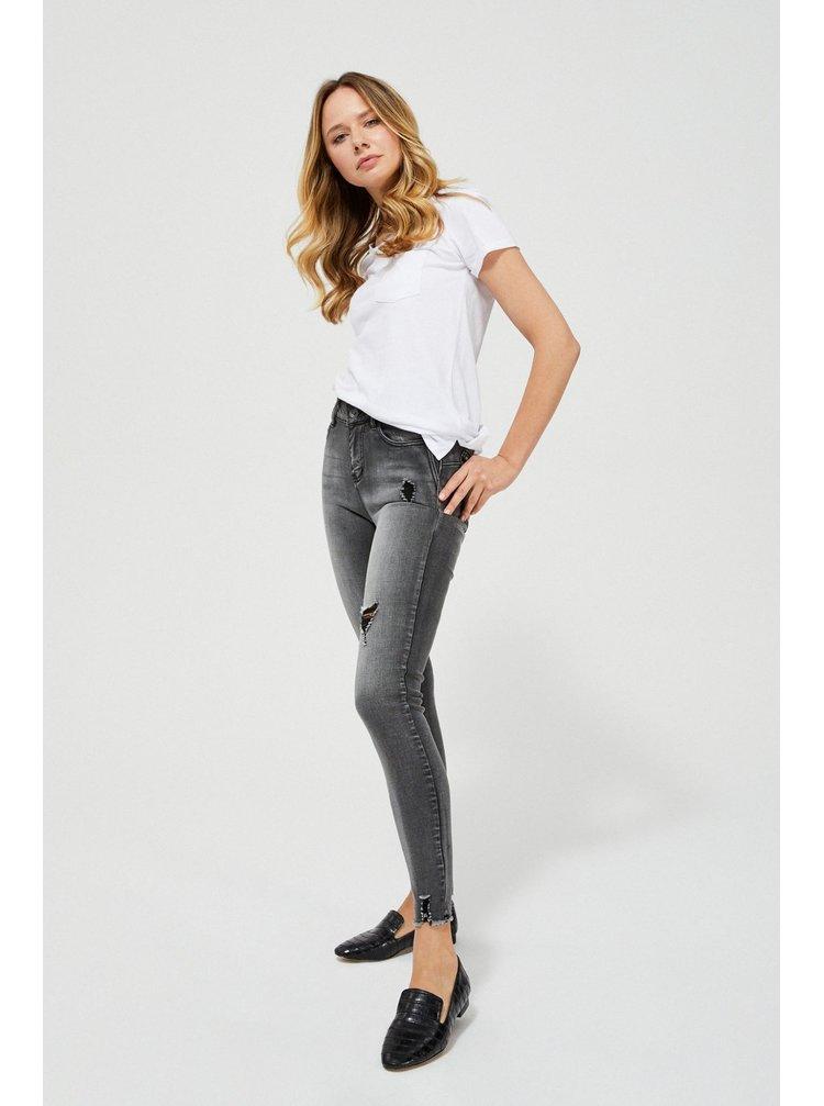 Moodo šedé džíny s vyšším pasem