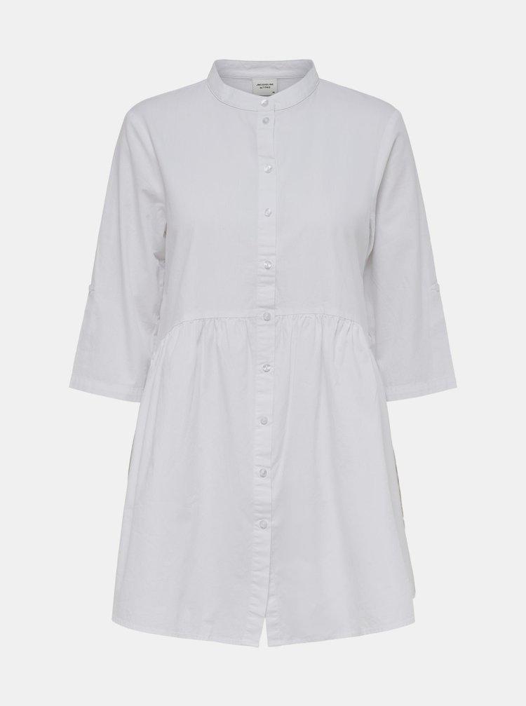 Biele košeľové šaty Jacqueline de Yong Cameron