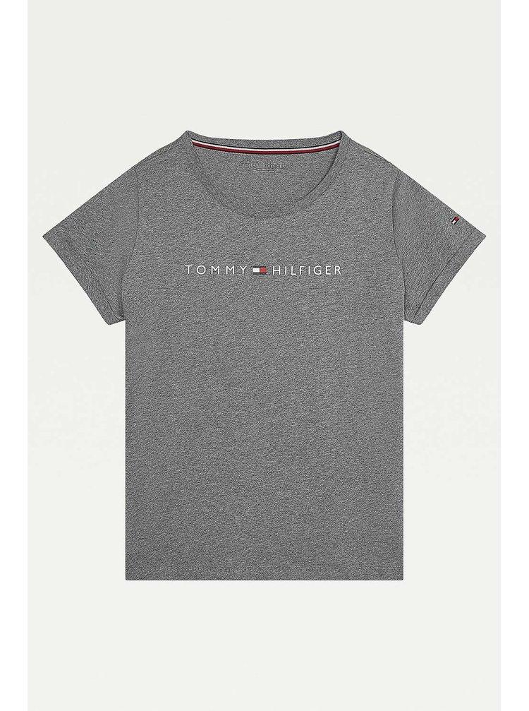Tommy Hilfiger šedé dámské tričko RN Tee SS Logo