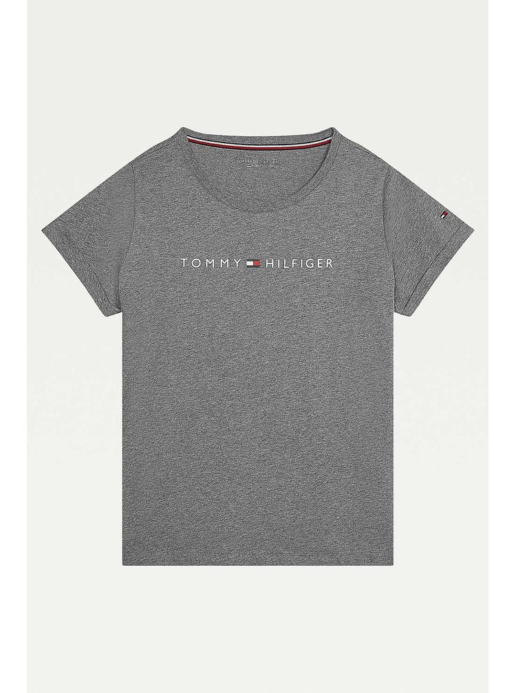 Tommy Hilfiger sivé dámske tričko RN Tee SS Logo