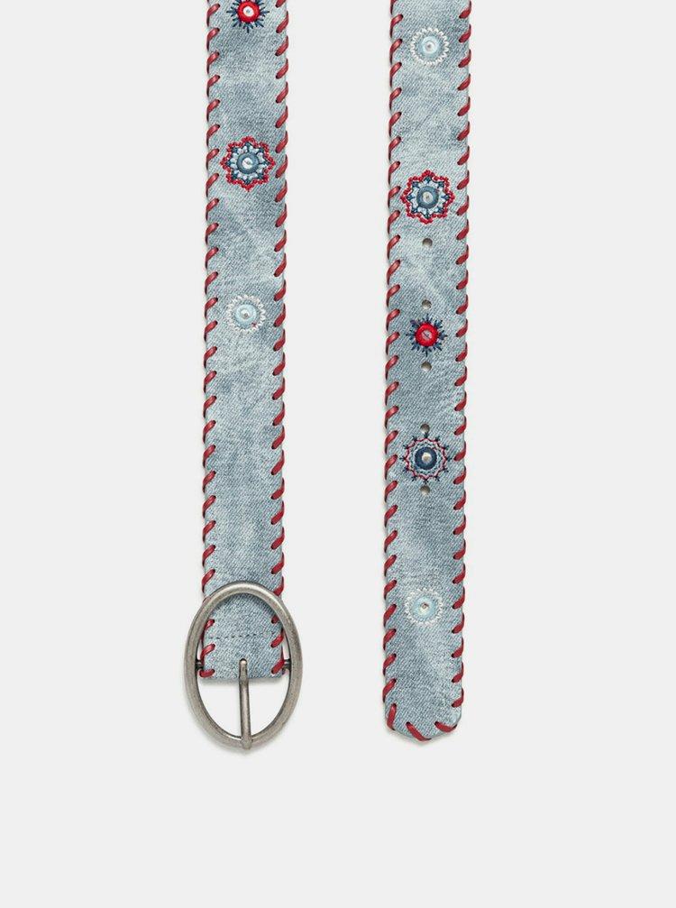 Desigual modré opasok Belt Julietta Jeans