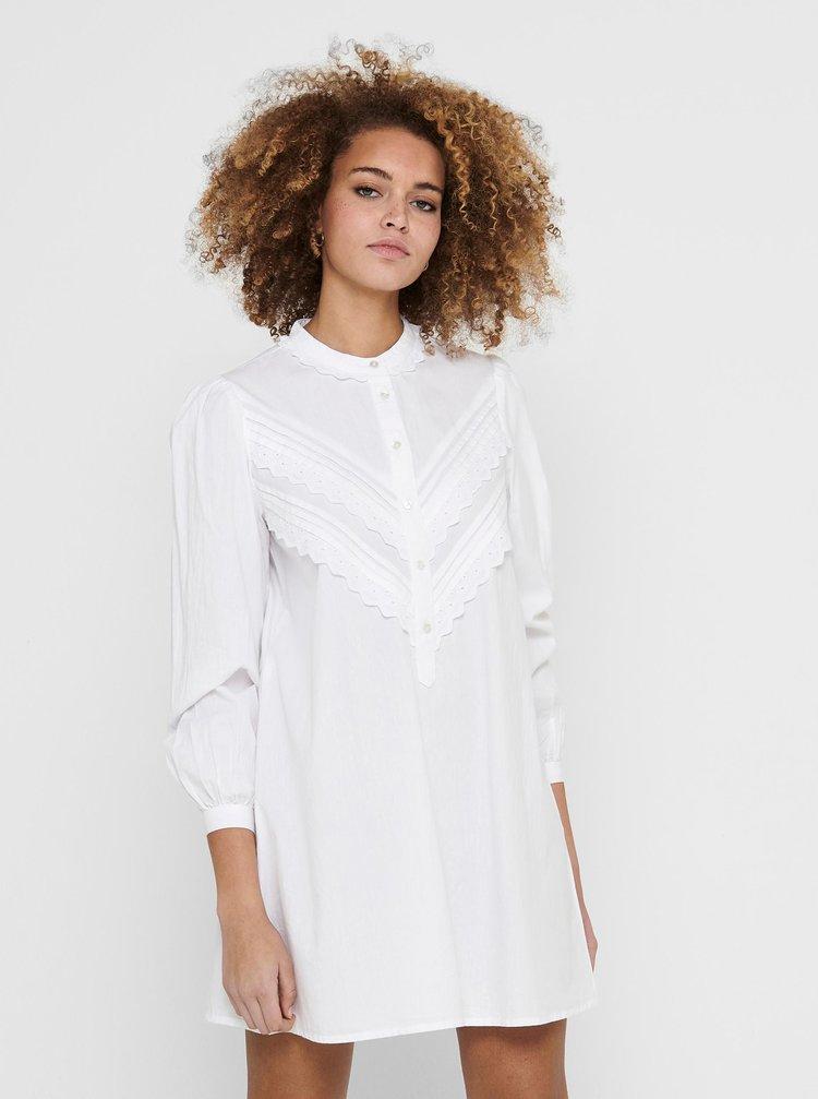 Biele košeľové šaty Jacqueline de Yong Mumbai