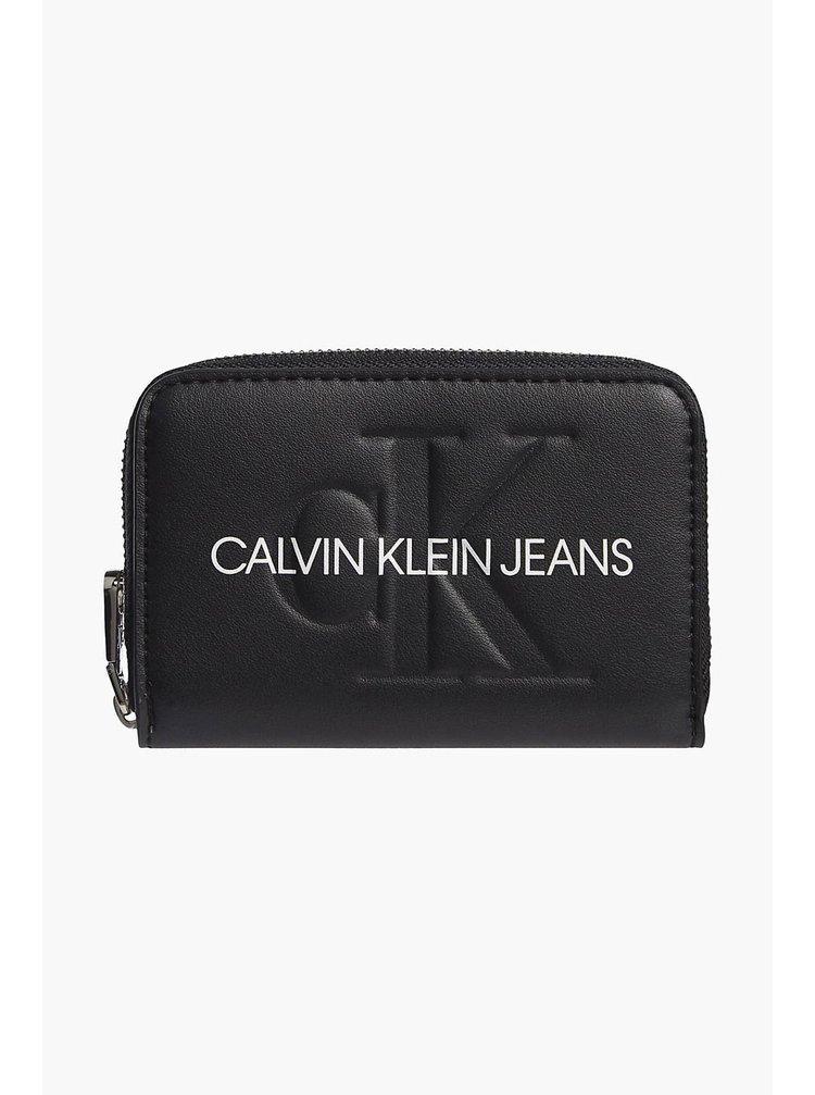Calvin Klein čierne peňaženka Accordion Zip Around