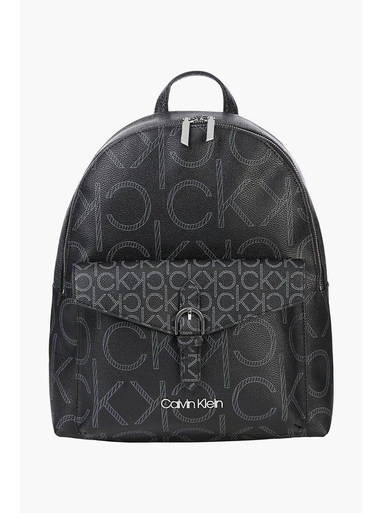 Calvin Klein černý batoh BP W/PCKT Mono