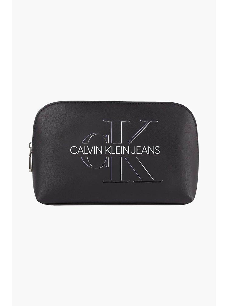 Calvin Klein černá kosmetická taška Cosmetic Pouch Glow