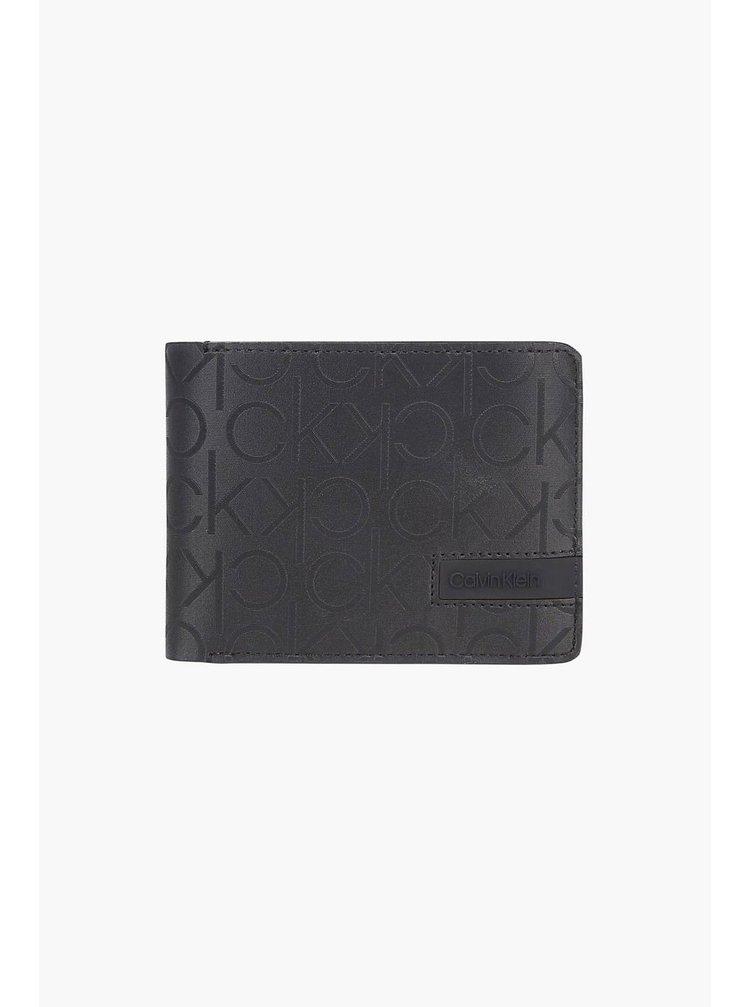 Calvin Klein čierne pánska peňaženka Trifold