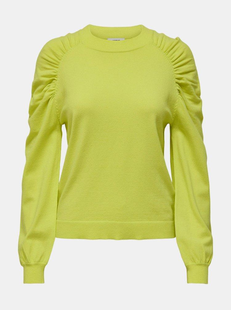 Žlutozelený svetr Jacqueline de Yong Kourtney