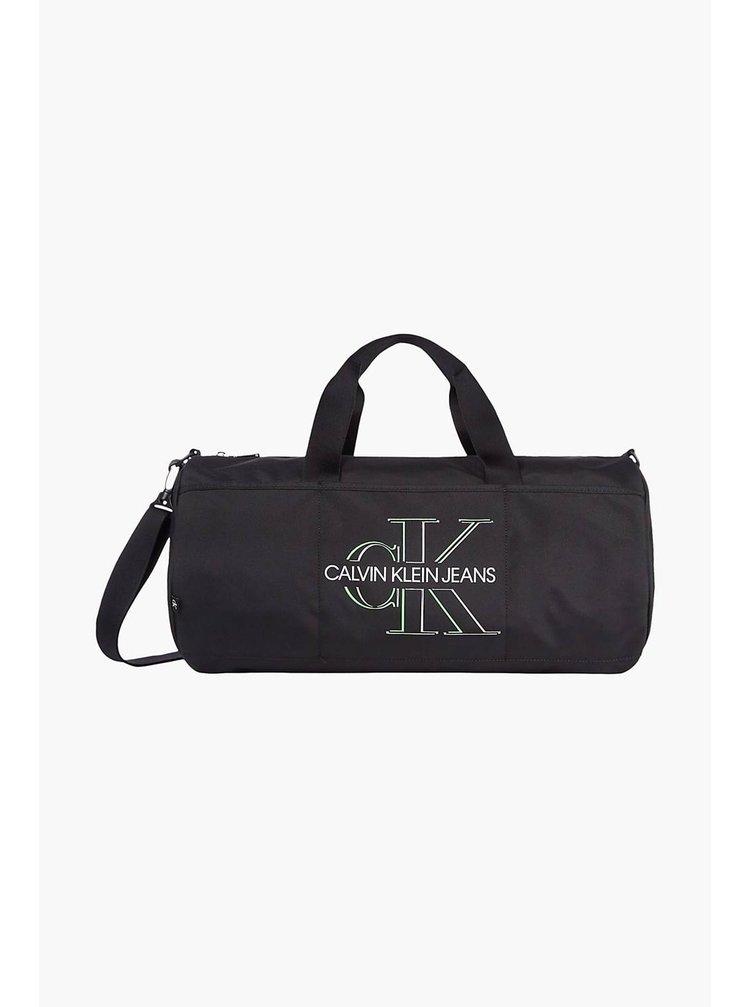 Calvin Klein černá pánská taška Barrel Glow