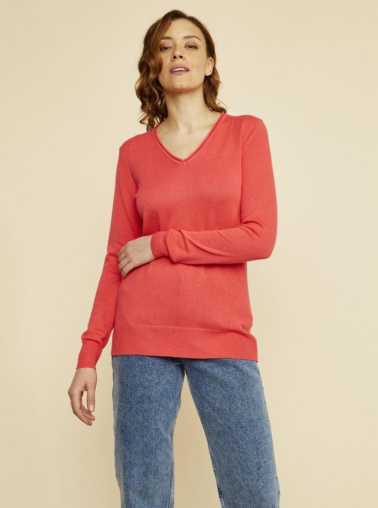 Korálový dámský basic svetr ZOOT Baseline Irma