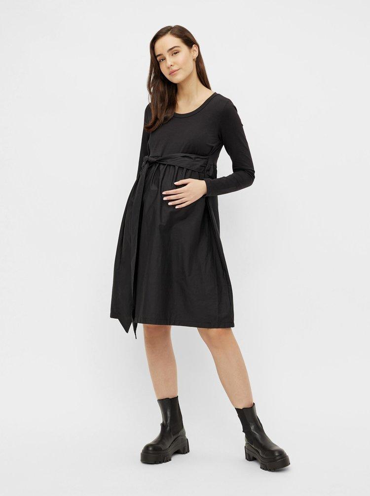Černé těhotenské šaty se zavazováním Mama.licious Carolina