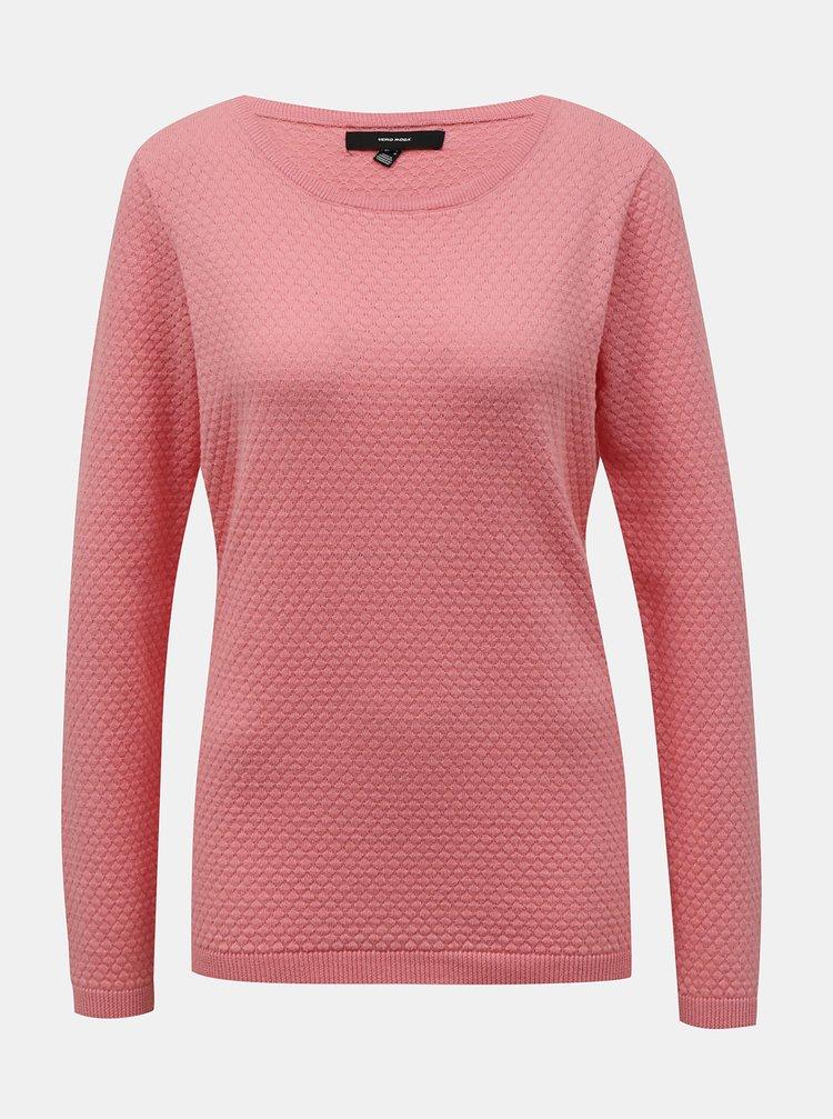 Ružový sveter VERO MODA Care