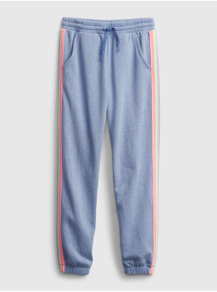 Modré holčičí dětské tepláky GAP Logo joggers slouchy