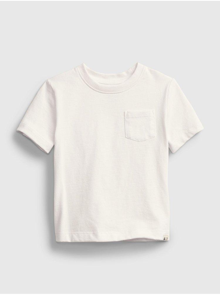 Bílé klučičí dětské tričko ptf ss sld org
