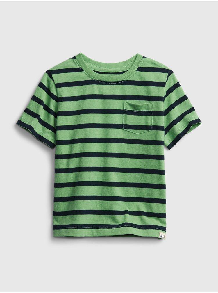 Zelené klučičí dětské tričko ptf ss stripe