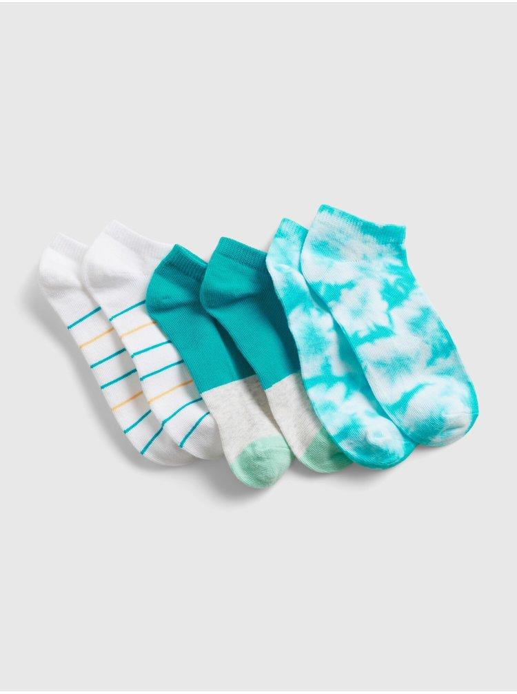 Barevné holčičí dětské ponožky g td ns, 3 páry