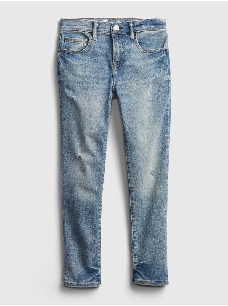Modré klučičí dětské džíny distressed skinny jeans with stretch