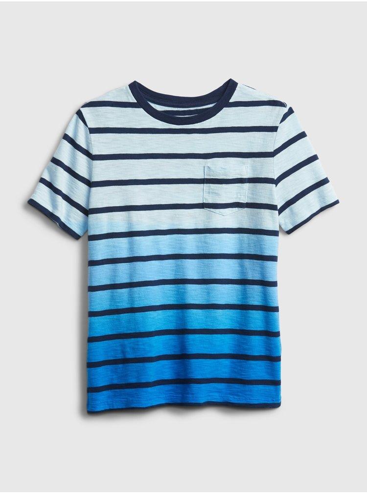 Modré klučičí dětské tričko breton stripe bretspbl xxl