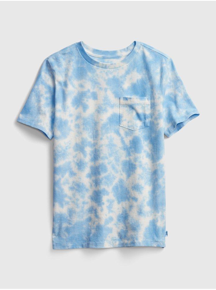 Modré klučičí dětské tričko speckled dye