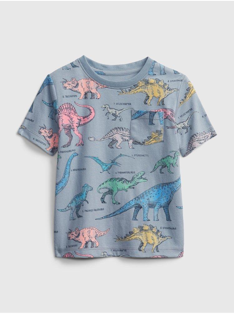 Modré klučičí dětské tričko ptf ss print