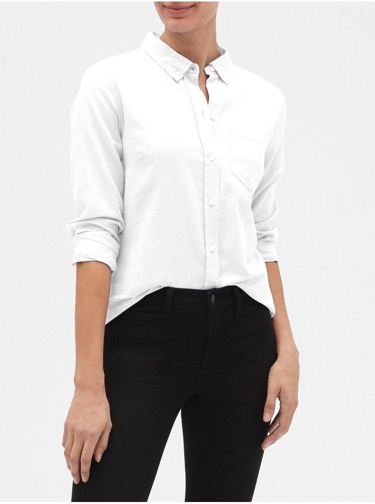 Bílá dámská košile v-fitted boyfriend oxf